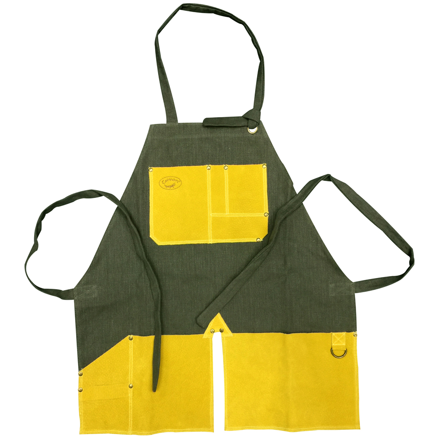 "99991 - 26"" 100% Organic Cotton Apron, Green"