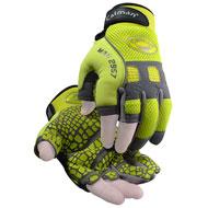 2957 - Rhino-Tex™, Hi-Vis Reflective, Silicone Grip, Fingerless