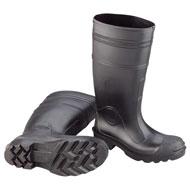Black PVC Boot (Plain Toe)