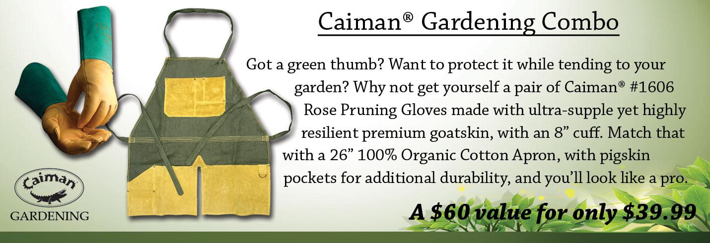 Caiman® Gardening Combo - Glove + Apron
