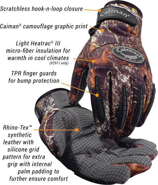 Caiman-2910-2911-Camouflage-Glove